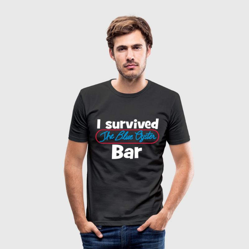 I survived the Blue Oyster Bar - Men's Slim Fit T-Shirt