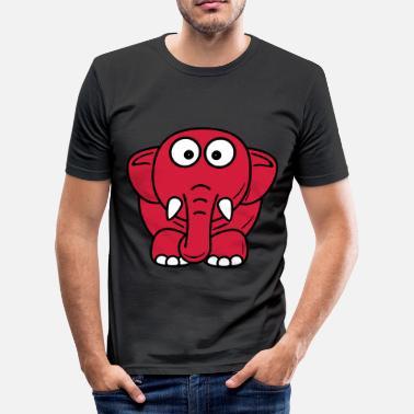 elefante - Camiseta ajustada hombre 1a9e51a522f