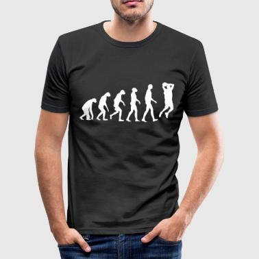 Affe Basketball Evolution Basketball - Männer Slim Fit T-Shirt