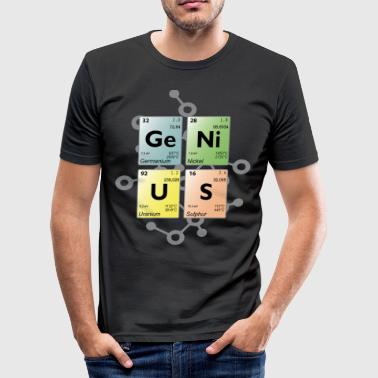 Periodic table genius 4 - Men's Slim Fit T-Shirt