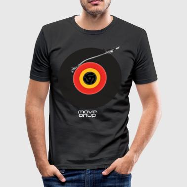 Vinyl Turntable - Men's Slim Fit T-Shirt