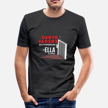 Space Elevator Darth dad girlfriend photography lift gift - Men's Slim Fit T-Shirt