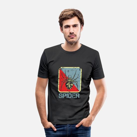 Gift Idea T-Shirts - spider - Men's Slim Fit T-Shirt black