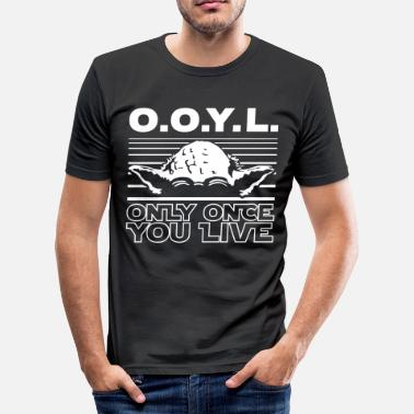 R2d2 O.O.Y.L. Only once you live - Men's Slim Fit T-Shirt