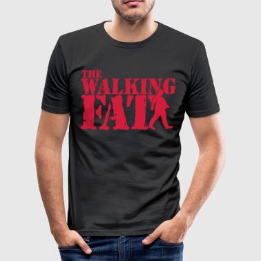 The walking Fat - Zombie - Humor - Adipositas-Fett - Männer Slim Fit T-Shirt