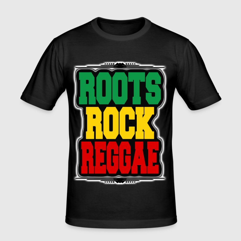 roots rock reggae - Men's Slim Fit T-Shirt