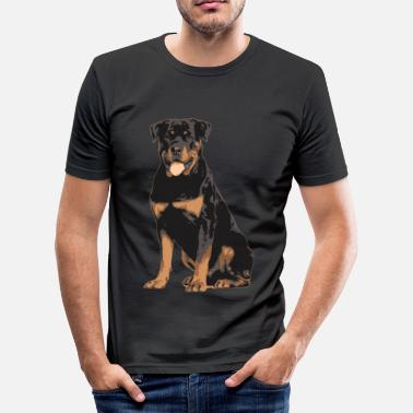 Rottweiler rottweiler - Slim fit T-skjorte for menn