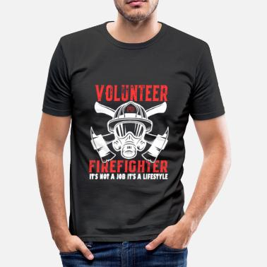 Fire Volunteer Fire Fighter Gifts - Men's Slim Fit T-Shirt