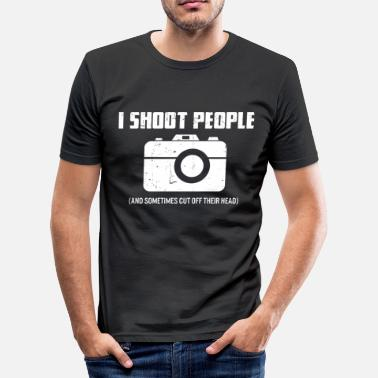Photographer I Shoot People - Gift tip for photographer - Men's Slim Fit T-Shirt