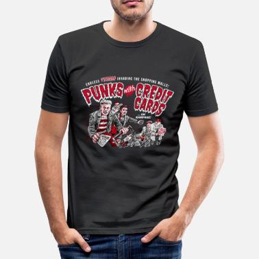 B Movie Punks with Credit Cards - Men's Slim Fit T-Shirt