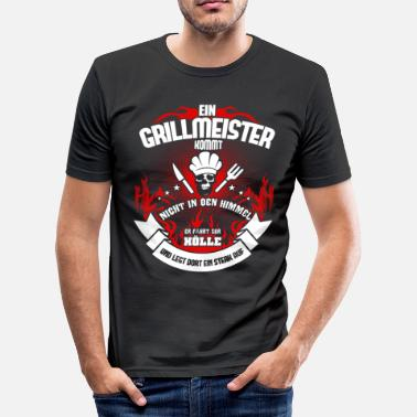 Grillmeister Grillen Grillmeister Grill schedel BBQ-cadeau - slim fit T-shirt