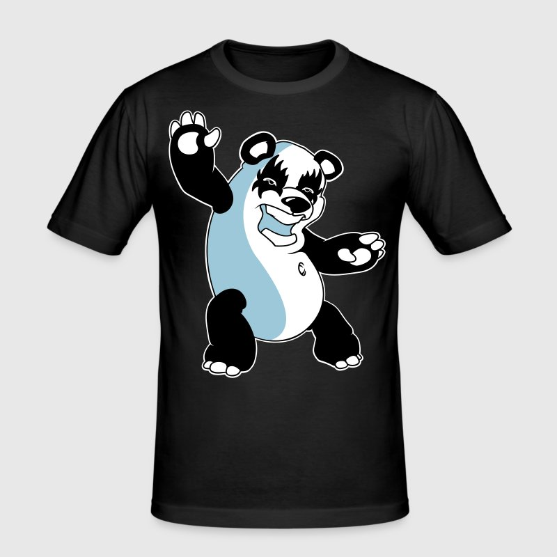 Panda Kiss - Men's Slim Fit T-Shirt