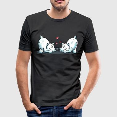 Polar bears in love - T-shirt près du corps Homme
