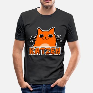 Cat Grappige cartoon kat - slim fit T-shirt