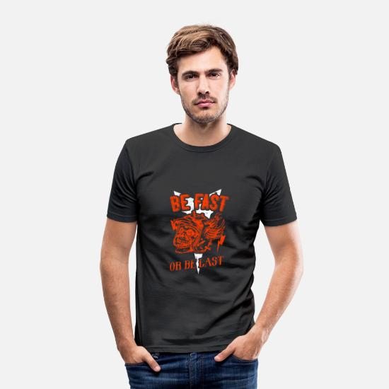 Birthday T-Shirts - Motorcycle driving quote quote - Men's Slim Fit T-Shirt black
