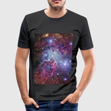 Planets Stars and Nebulae Iphone 4 hardcase - Men's Slim Fit T-Shirt