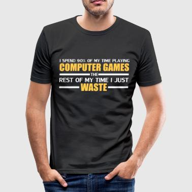 computer gaming - Men's Slim Fit T-Shirt