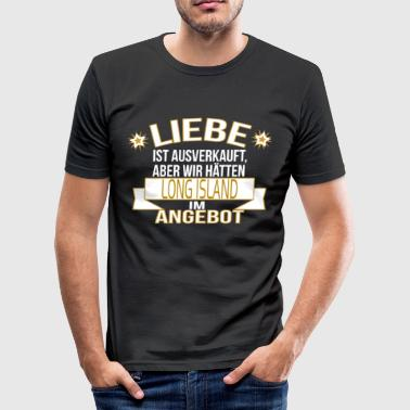 LONG ISLAND - Männer Slim Fit T-Shirt