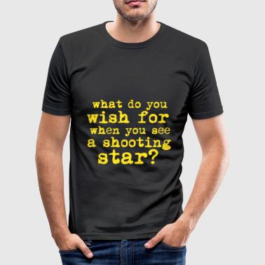 Shooting star, desire, fulfillment - Men's Slim Fit T-Shirt