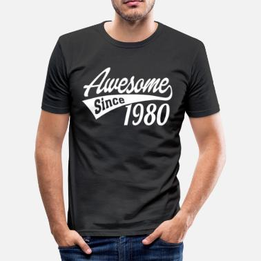 Awesome Since Awesome Since 1980 - Men's Slim Fit T-Shirt