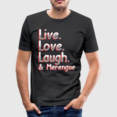 Merengue Live love pool y merengue - Camiseta ajustada hombre