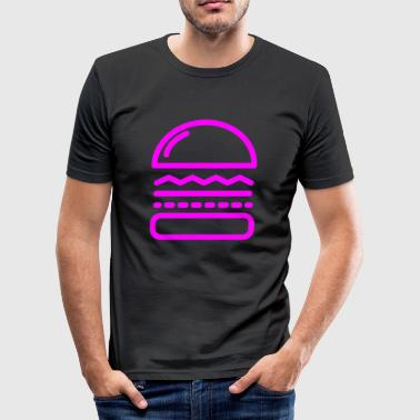 Hamburger Pink - Männer Slim Fit T-Shirt