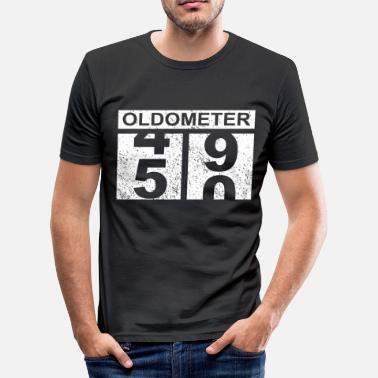 9e7be5f4a 50th birthday 50 years oldometer vintage gift - Men's Slim Fit T. Men's  Slim Fit T-Shirt