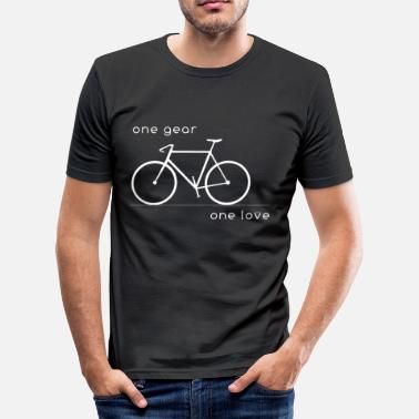 Fixie one gear_one love - Männer Slim Fit T-Shirt