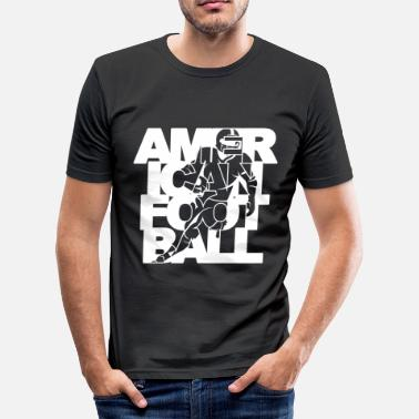 American Football American Football Spieler Player - Männer Slim Fit T-Shirt