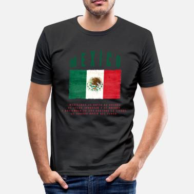 Bandera Mexicansk Flag Bandera Mexico - Herre Slim Fit T-Shirt