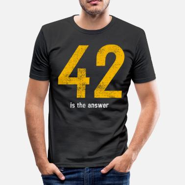 Answer 42 42 is the answer - Men's Slim Fit T-Shirt