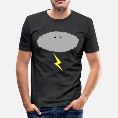 Angry People Angry cloud - Men's Slim Fit T-Shirt