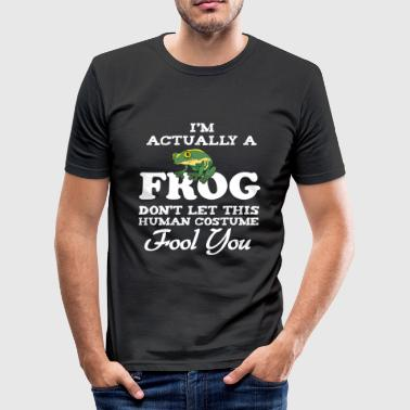 I'm actually a Frog Funny Human Costume - Männer Slim Fit T-Shirt