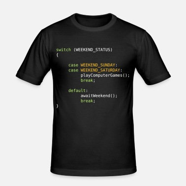Java JAVA CODE - SWITCH - GAMING ON WEEKENDS - Männer Slim Fit T-Shirt