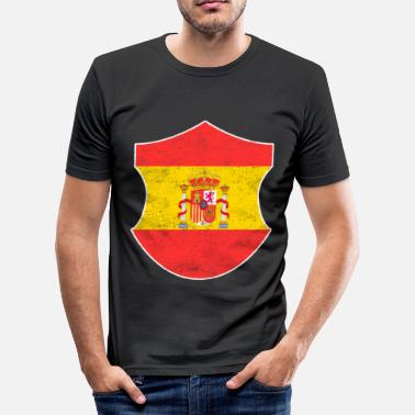 South Sun Spain south gift Madrid holiday sun emblem - Men's Slim Fit T-Shirt