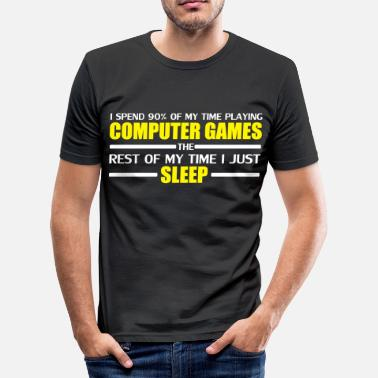 League Computer Games - Slim Fit T-skjorte for menn