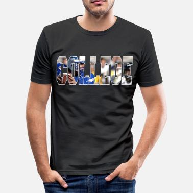 College Football college d2 football tshirt - Männer Slim Fit T-Shirt