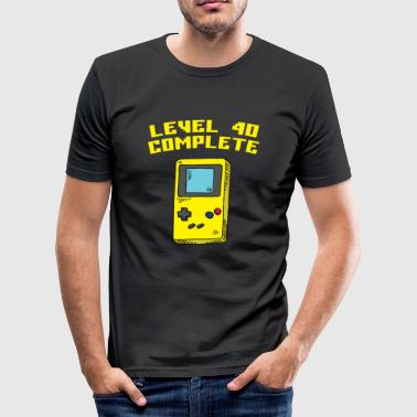 Level 40 Complete - Männer Slim Fit T-Shirt