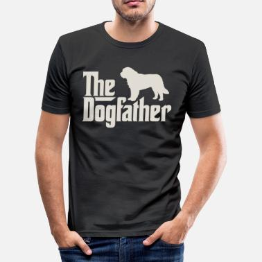 Saint Den Dogfather - Saint Bernard Saint Bernard - Slim Fit T-skjorte for menn