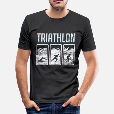 Triathlet Triathlon Triathlet - Männer Slim Fit T-Shirt
