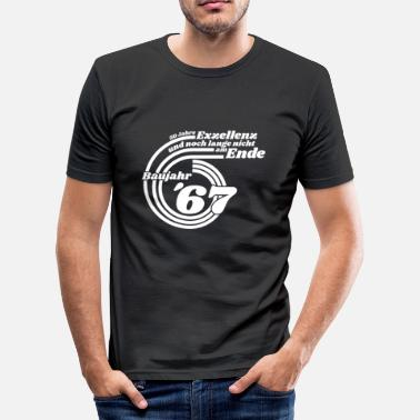 67 Years Year of construction 67 - Men's Slim Fit T-Shirt