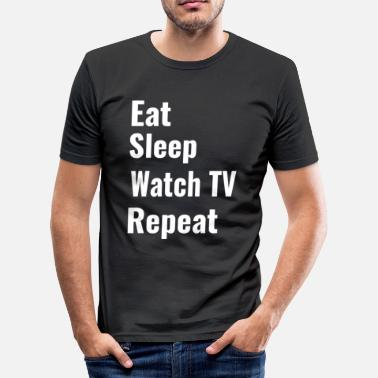 Watch Tv watch TV - Men's Slim Fit T-Shirt