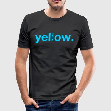 Yellow, cool ambiguous design - Men's Slim Fit T-Shirt