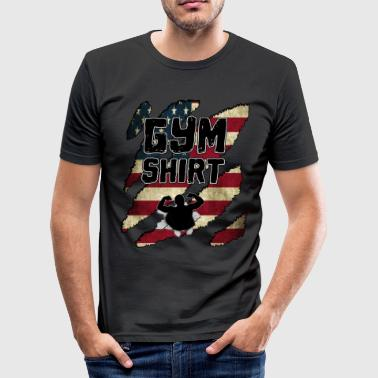GYM GYM GYM FITNESS - Männer Slim Fit T-Shirt