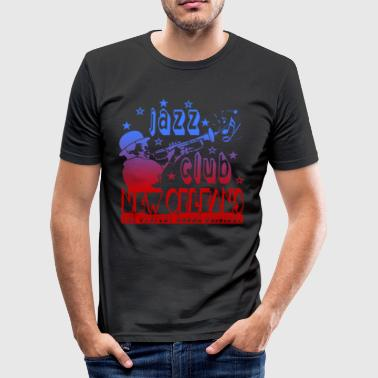 jazz club new orleans the perfect sound original - Men's Slim Fit T-Shirt