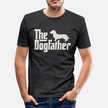 Ruwharige Teckel Dogfather - Teckel, ruwhaar tekkel, tekkel - slim fit T-shirt