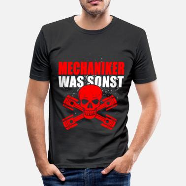 Mechanik Mechaniker was sonst - Männer Slim Fit T-Shirt