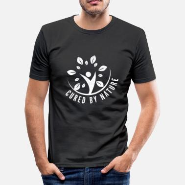 Genezing genezen door de natuur - slim fit T-shirt