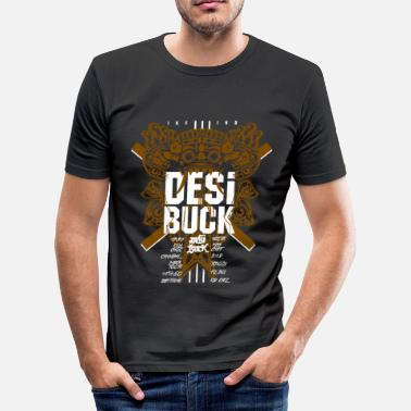 Desi Desi Buck Crew - Brown - Slim fit T-skjorte for menn