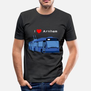 Arnhem, Trolleybus (wit) - slim fit T-shirt